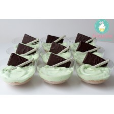 Mini cheesecake menta