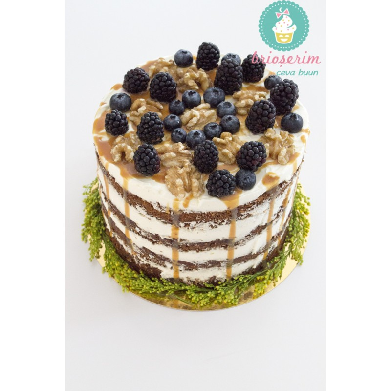 Tort Carrot Cake Cu Pralina De Nuci Si Caramel Brioserimro