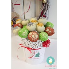Cake pops - red & green - Craciun