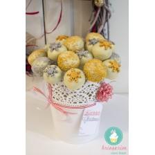 Cake pops - silver & gold - Craciun