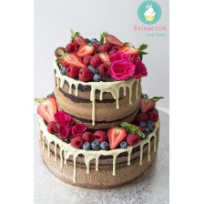 Tort naked Chocolate & Fresh fruits