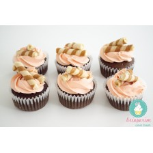 Melon & vanilla rolls cupcake