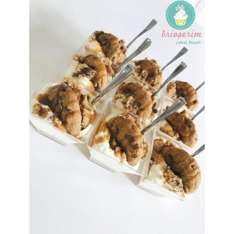 Mini cheesecake cookie & caramel
